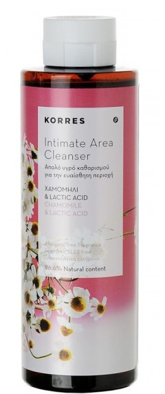 Korres Intimate Area Cleanser Chamomile Amp Lactic Acid